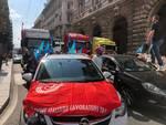 corteo mezzi sciopero dei trasporti 24 luglio