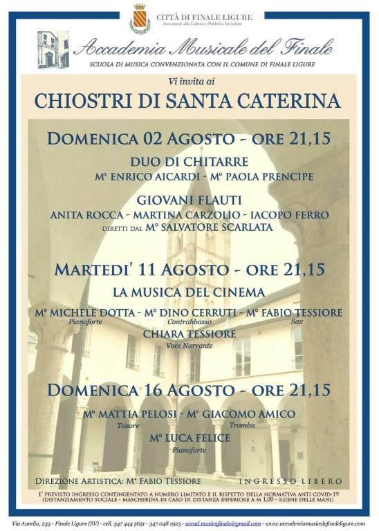 Finale Ligure concerto chitarre e flauti Accademia Musicale del Finale