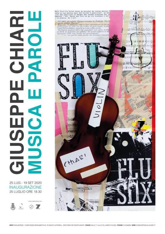 "Finale Ligure mostra d'arte ""Musica e parole"" Giuseppe Chiari"