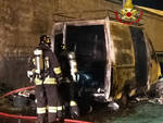 furgone a fuoco
