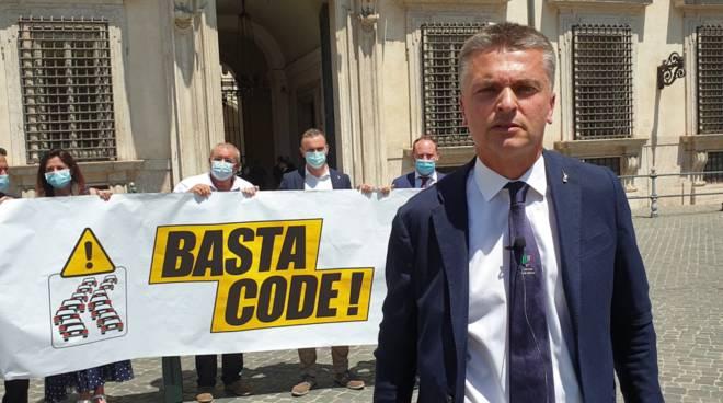 Protesta Lega Autostrade Roma