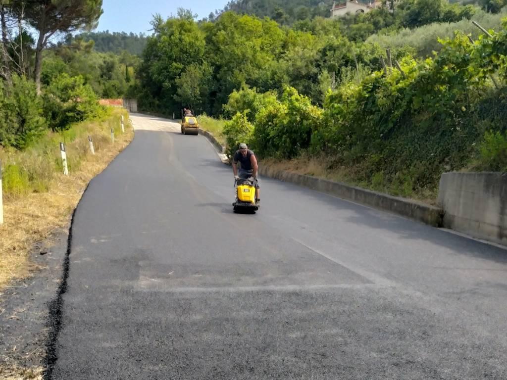 Giustenice-Pietra Ligure frana strada intercomunale