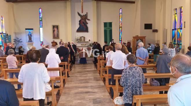 I funerali di Giancarlo Vadora a Borgio Verezzi