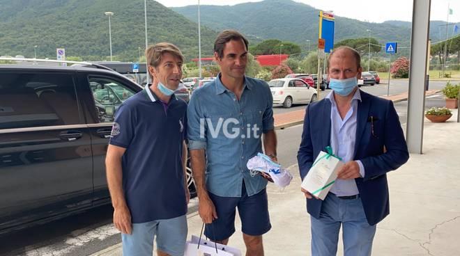 Il campione Roger Federer in Riviera