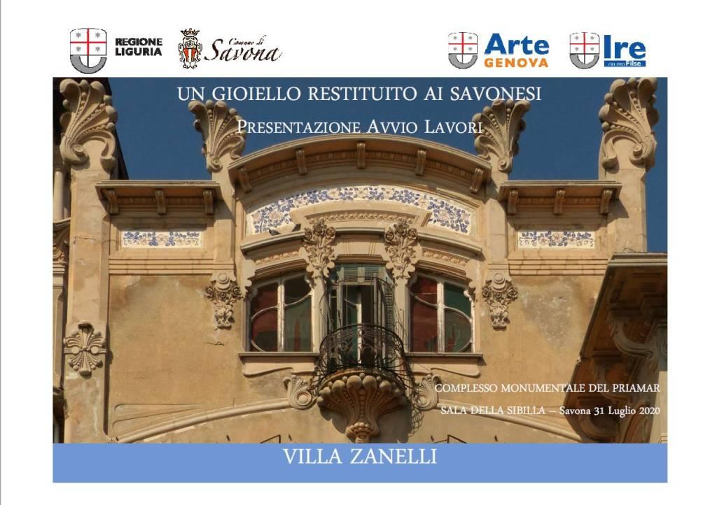 Il progetto di riqualificazione di Villa Zanelli a Savona