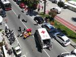 Incidente scooter Vado Ligure Aurelia