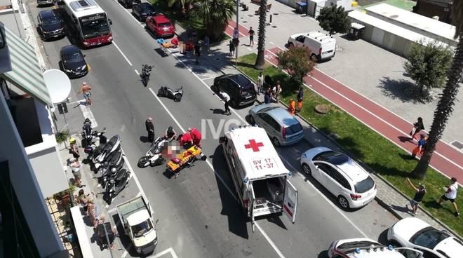Incidente scooter Vado Ligure Aurelia