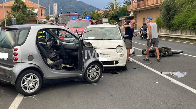 Incidente stradale a Ceriale