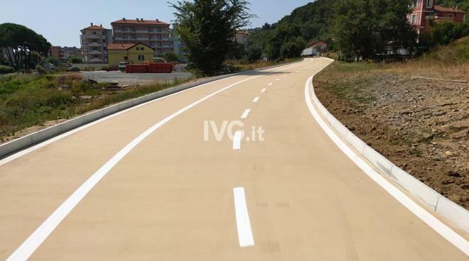 La nuova pista ciclabile di Andora