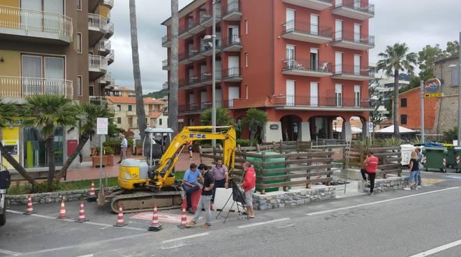 Lavori acqua Aurelia Andora