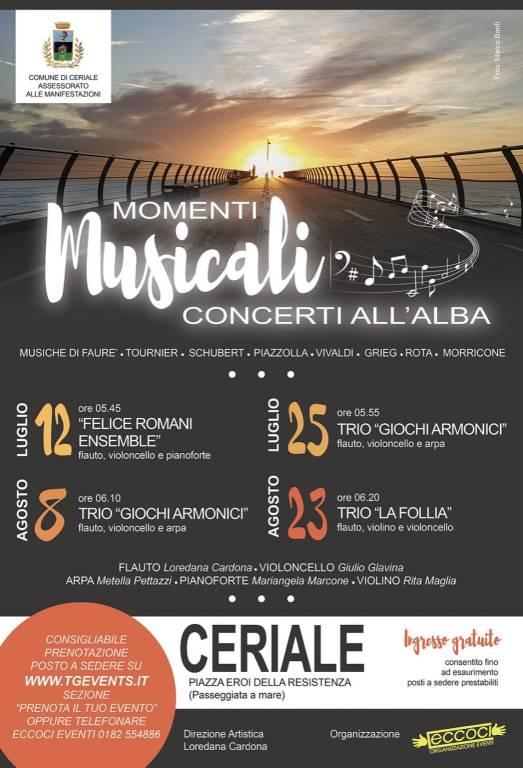 """Ceriale """"Momenti Musicali"""" concerti all'alba"""