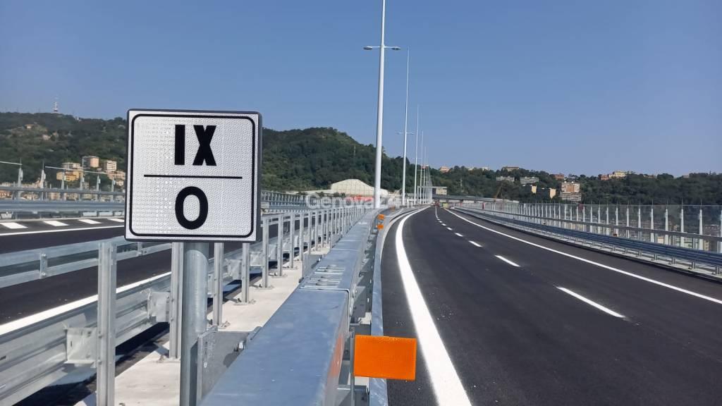 Nuovo ponte Genova San Giorgio 30 luglio