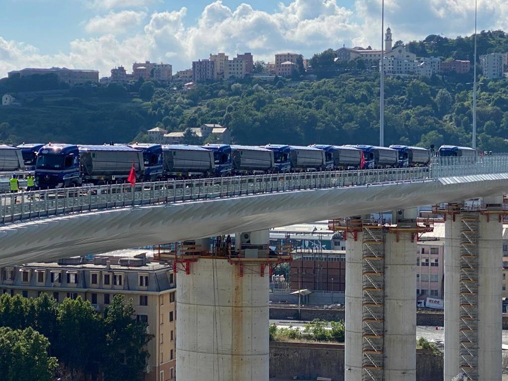 Nuovo ponte, il collaudo statico