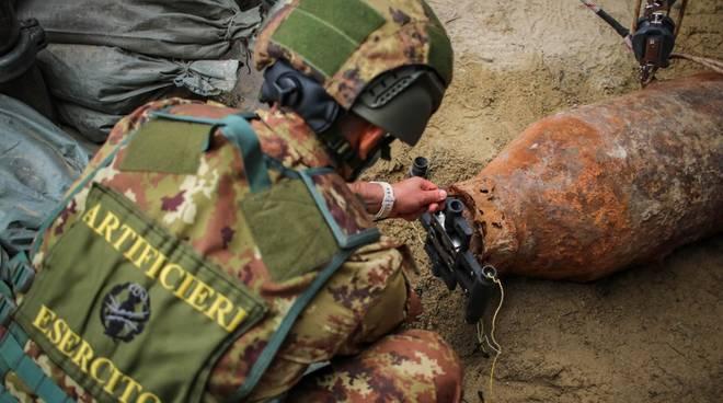 Operazioni disinnesco ordigno bellico Campo Liguire