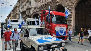 Protesta Tir a Genova