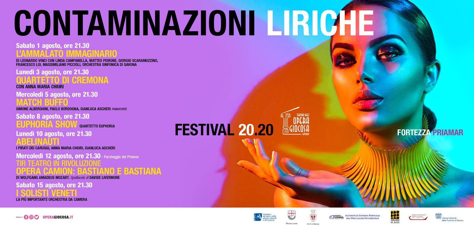 Savona Contaminazioni Liriche Festival 2020 Priamar
