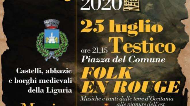 Testico concerto duo Folk en Rouge luglio 2020