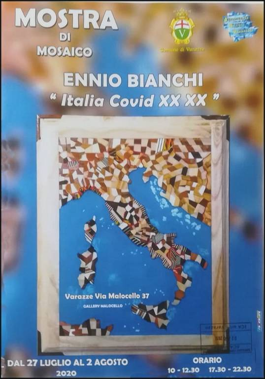 Varazze mostra mosaici Ennio Bianchi Gallery Malocello