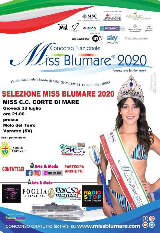 Varazze Miss BluMare 2020 molo Marinai d'Italia