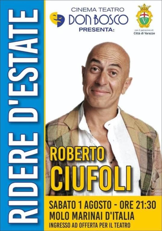 "Varazze Roberto Ciufoli recital comico ""Tipi"""