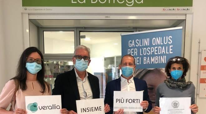 Verallia Italia donazione Ospedale Gaslini Genova