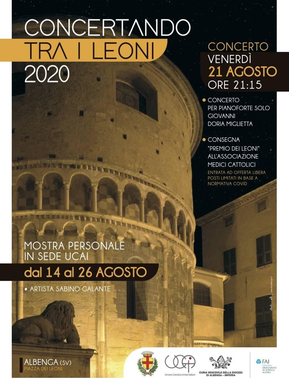 """Albenga """"Concertando tra i Leoni"""" pianista Giovanni Doria Miglietta"""