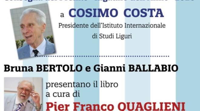 Albenga Premio Ingauno dell'Anno 2020 avvocato Cosimo Costa