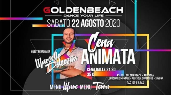 Albisola Superiore cena animata Golden Beach agosto 2020