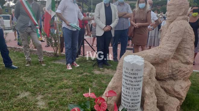 Albissola, inaugurato il cippo in ricordo del partigiano Saettone