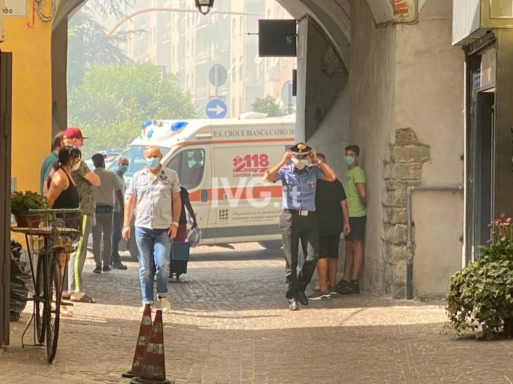 Allarme incendio a Cairo Montenotte, a fuoco la chiesa di San Lorenzo