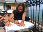 Bob Sinclar Alassio firma piastrella