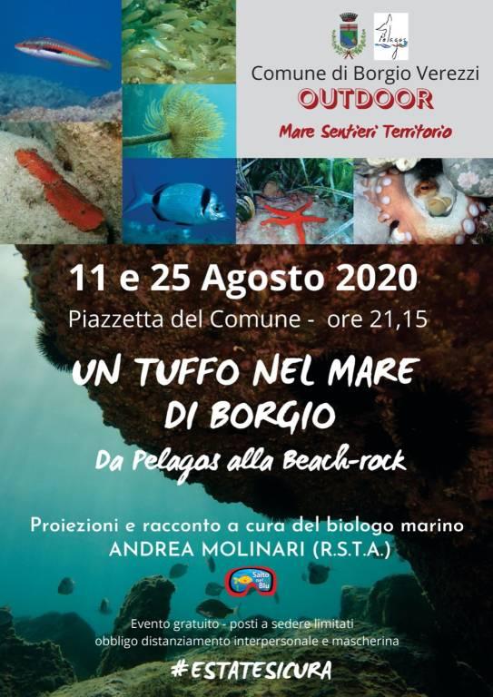 """Borgio Verezzi """"Un tuffo nel mare da Pelagos alla beach rock"""""""