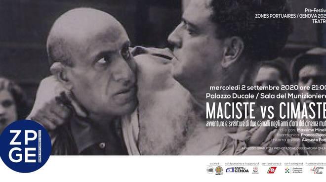 A Palazzo Ducale l'anteprima dello spettacolo teatrale 'Maciste vs Cimaste'  di Massimo Minella nell'ambito di Zones Portuaires / Genova 2020