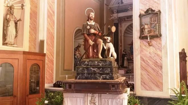Ceriale san Rocco statua patrono