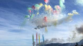 Alassio fuochi d'artificio diurni Ferragosto 2020