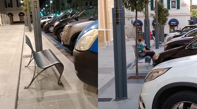 panchine piazza Giulio savona san paolo