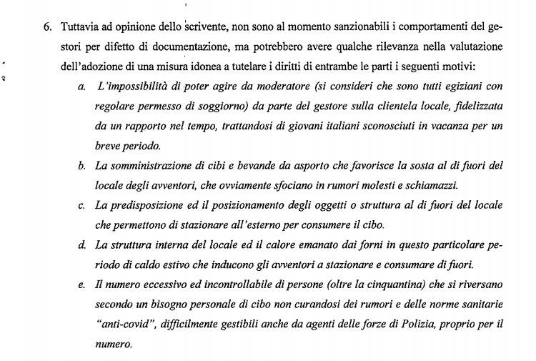 relazione carabinieri alassio - chiusura kebab hurgada