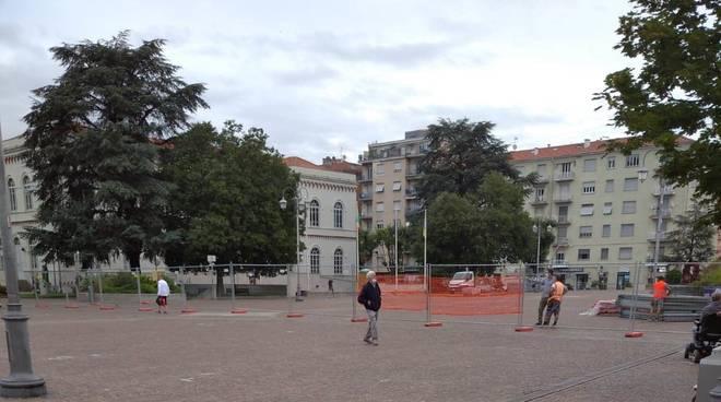 lavori piazza della vittoria - cairo montenotte