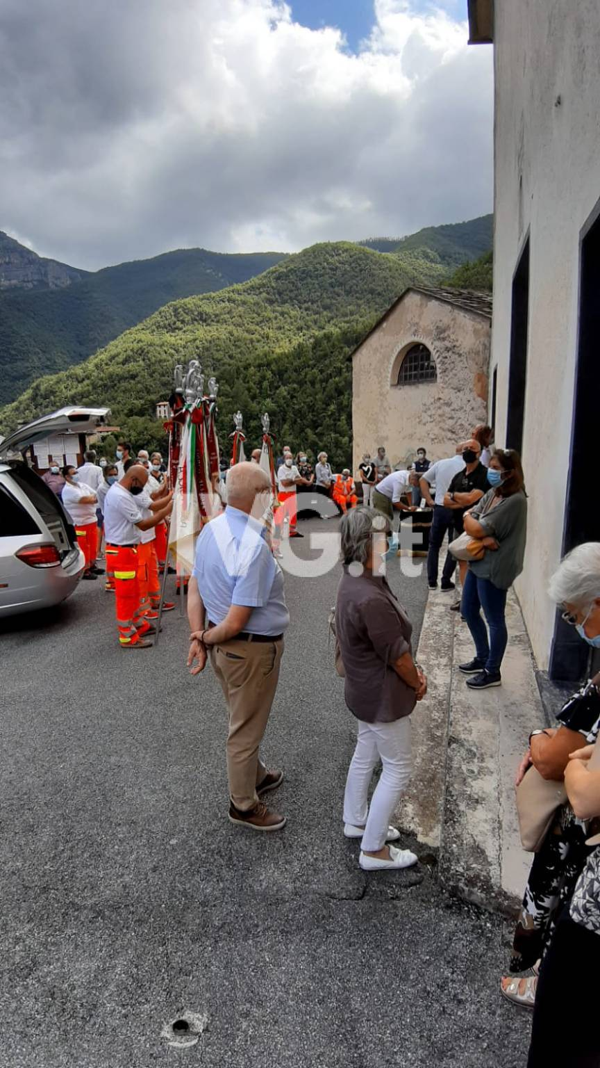 Il funerale di Claudio Tessarin