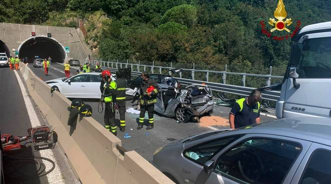 Incidente A12 tra Chiavari e Rapallo