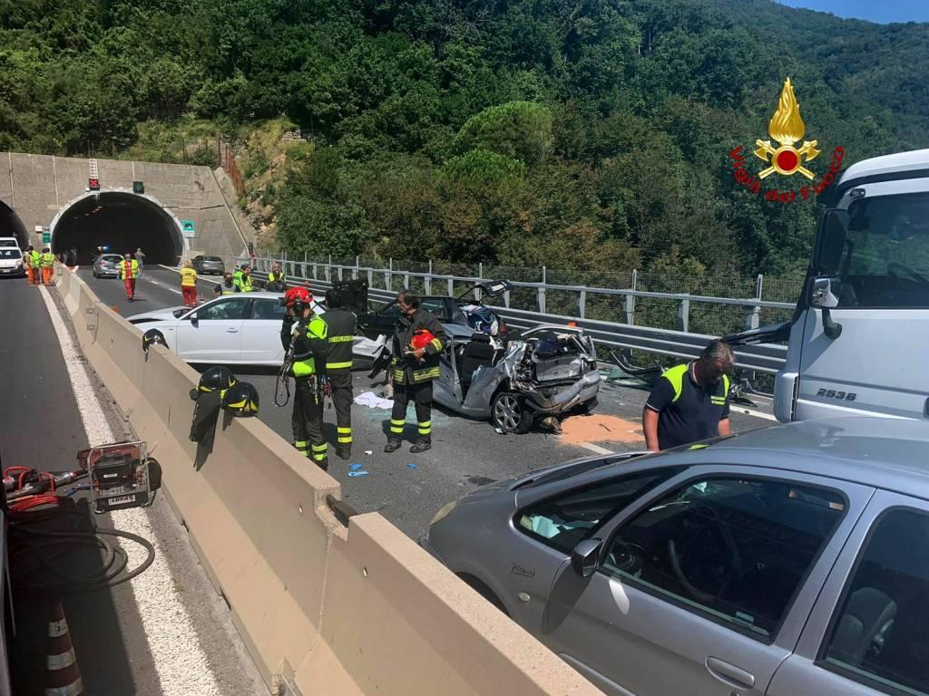 Incidente A12 tra Chiavari e Rapallo