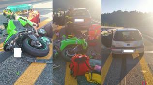 incidente a6 moto