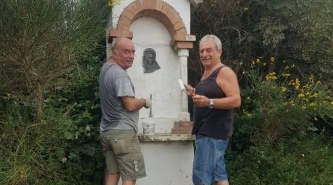 Monte Bignone statua e tempietto Madonnina