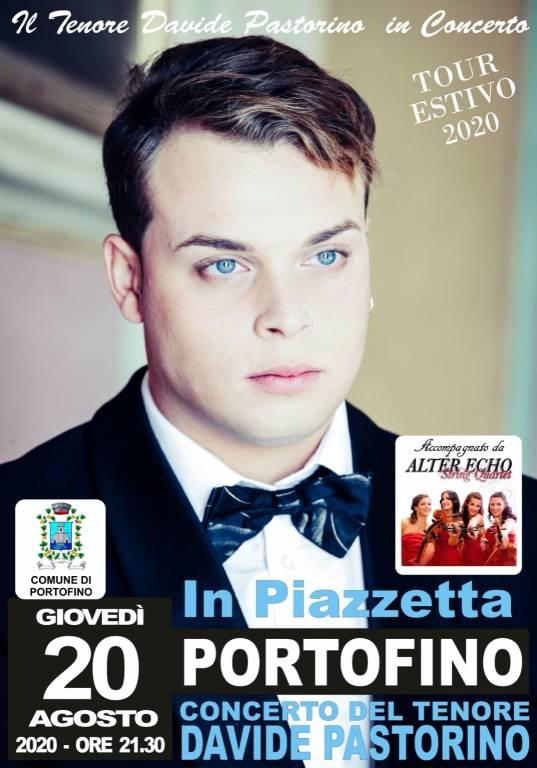 Portofino concerto tenore Davide Pastorino agosto 2020