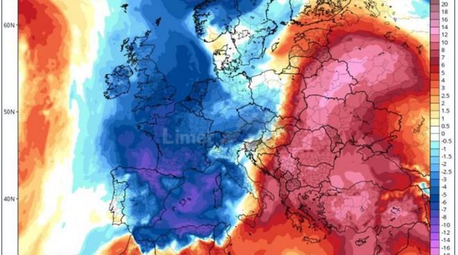 previsione calo temperature