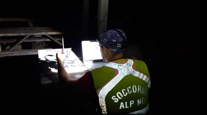 ricerche disperso soccorso alpino notte