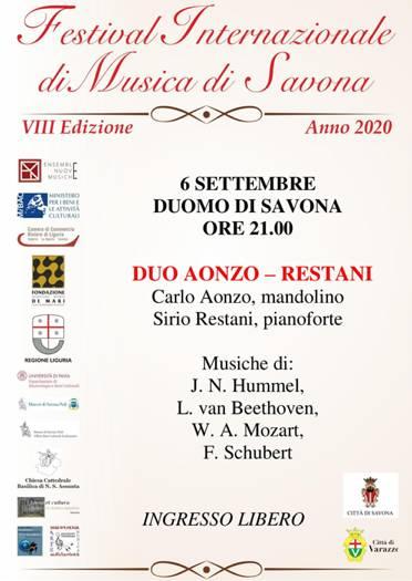 Savona concerto Carlo Aonzo e Sirio Restani 2020