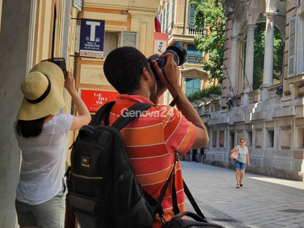 Turisti a Genova agosto 2020