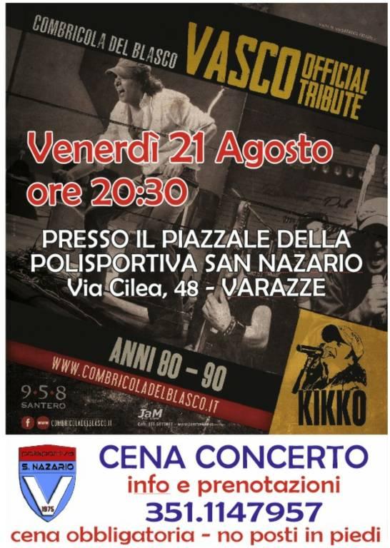 Varazze Combricola del Blasco concerto Polisportiva San Nazario agosto 2020