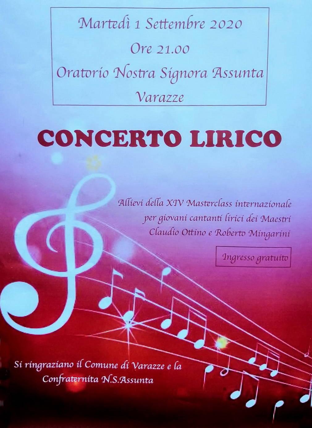 Varazze concerto lirico allievi Masterclass Internazionale 2020